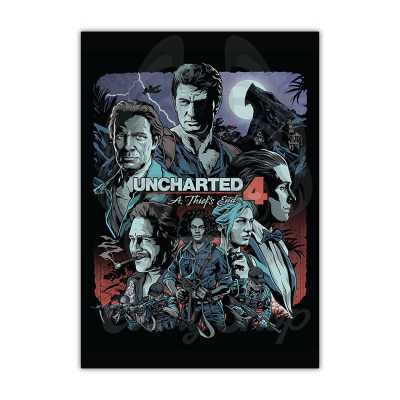 Uncharted 4 posters